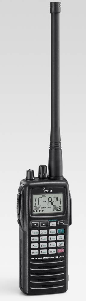 ICOM IC-A24E Handheld Nav/Com Airband Transceiver with VOR