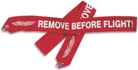 Warning Banner - ASA  - Remove Before Flight