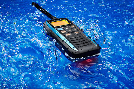 ICOM IC-M25EURO Float'n Flash Waterproof VHF Marine Handheld Radio