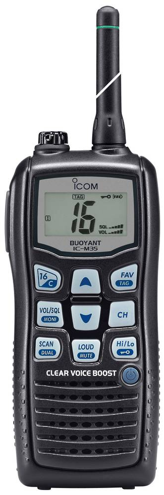 ICOM IC-M35 - Water Proof, Floating 5w Marine Hand Held w/-Voice Boost