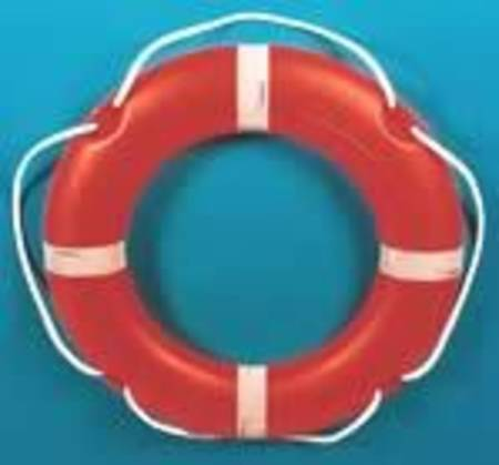 "Round 30"" (75cm) SOLAS Lifebuoy - 4 kg Manoverboard Bridge Mount"