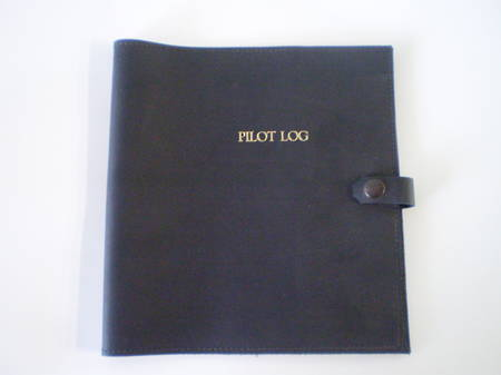 Leather Log Book Cover - Black  For NZ CAA Pilot Log Books printed prior to September 2007