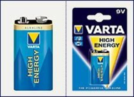 Varta High Energy Alkaline Battery 9V x 1 per pack