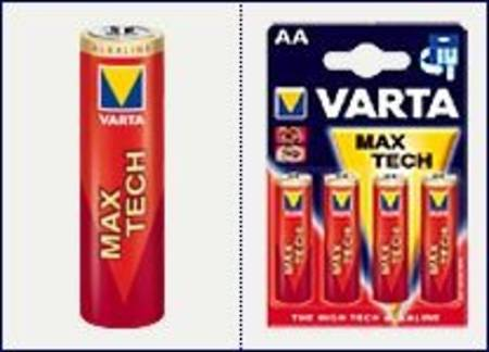 Varta Maxi-Tech Alkaline Battery AA x 4 per pack
