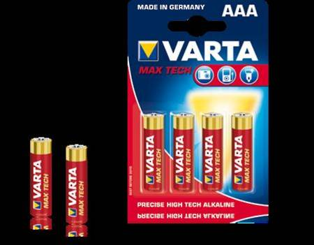 Varta Maxi-Tech Alkaline Battery AAA x 4 per pack