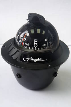 Airguide 70FBSH Black Flush Mount Powerboat Compass 4626