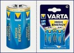 Varta High Energy Alkaline Battery C x 2 per pack