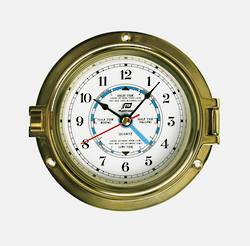 "Plastimo Time & Tide Clock, 4.5"" Brass 29044"