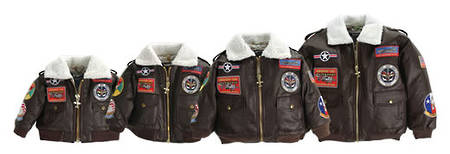 Flightline Kids Bomber Jacket - Brown with Patches - Flightline ...