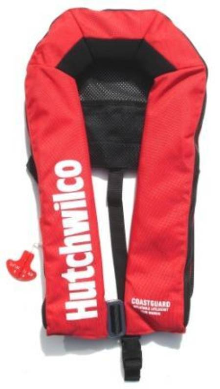 Hutchwilco Coastguard 170N Manual Inflatable Lifejacket - Adult - Red