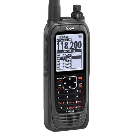 ad1b49d484d Icom IC-A25CE VHF Handheld Air Band Comm s Transceiver (replaces the IC-A6E)