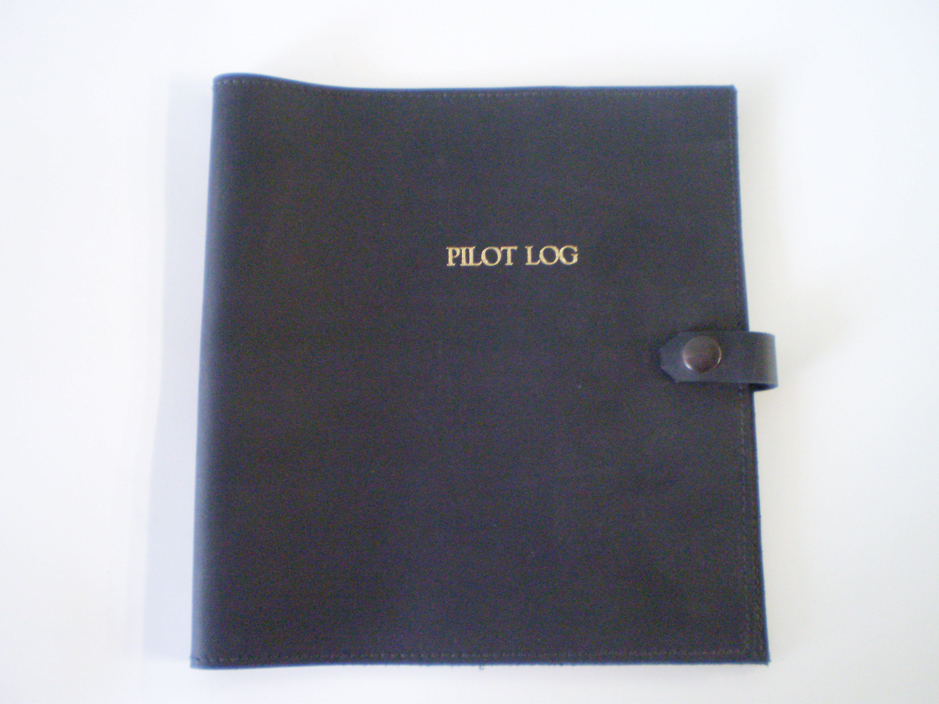 Book Covering Nz ~ Leather log book cover black for nz caa approved pilot